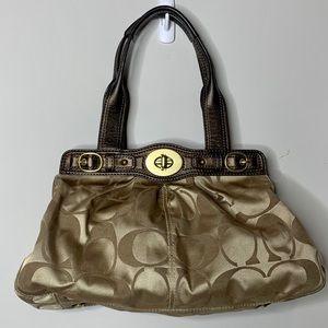 Coach top handle purse, brown